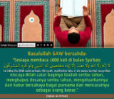 #SafinahQuote: Sabda Rasulullah tentang Sya'ban (1)