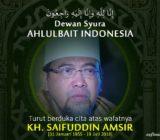 Turut Berduka Cita atas Wafatnya KH. Saifuddin Amsir