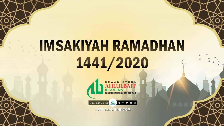 Jadwal, Imsakiyah, Ramadhan 1441