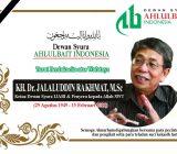 Turut Berduka Cita atas Wafatnya KH. Jalaluddin Rakhmat