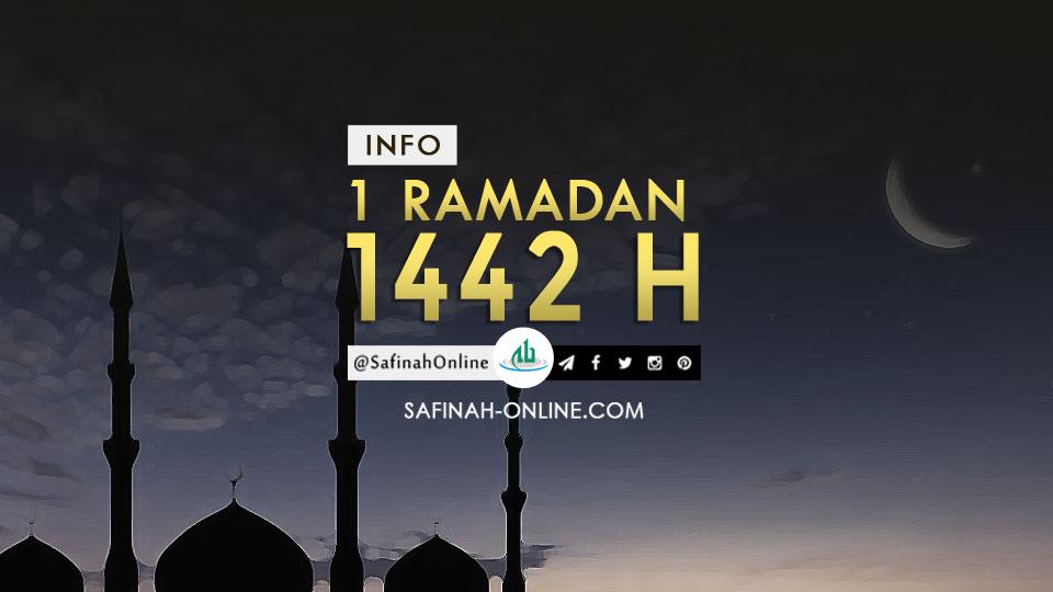 Info 1 Ramadan 1442 H