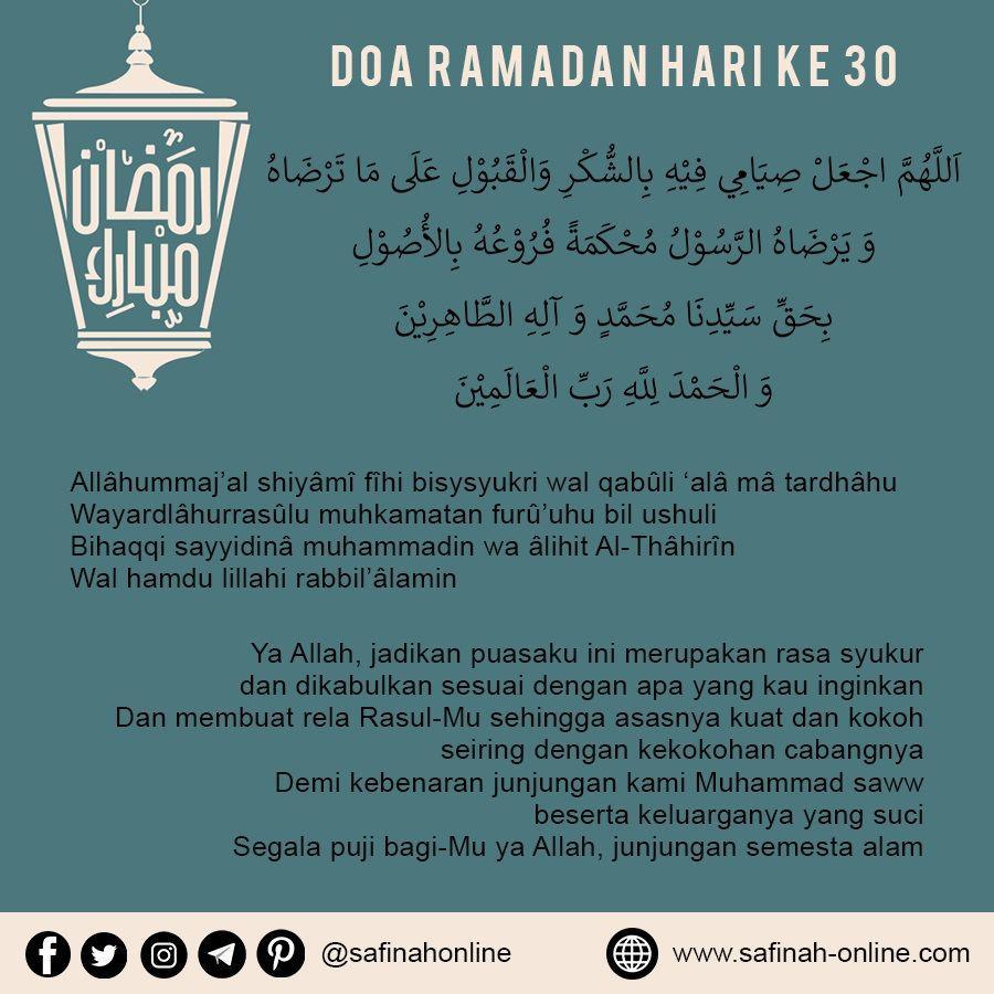 Doa Ramadan Hari ke 30